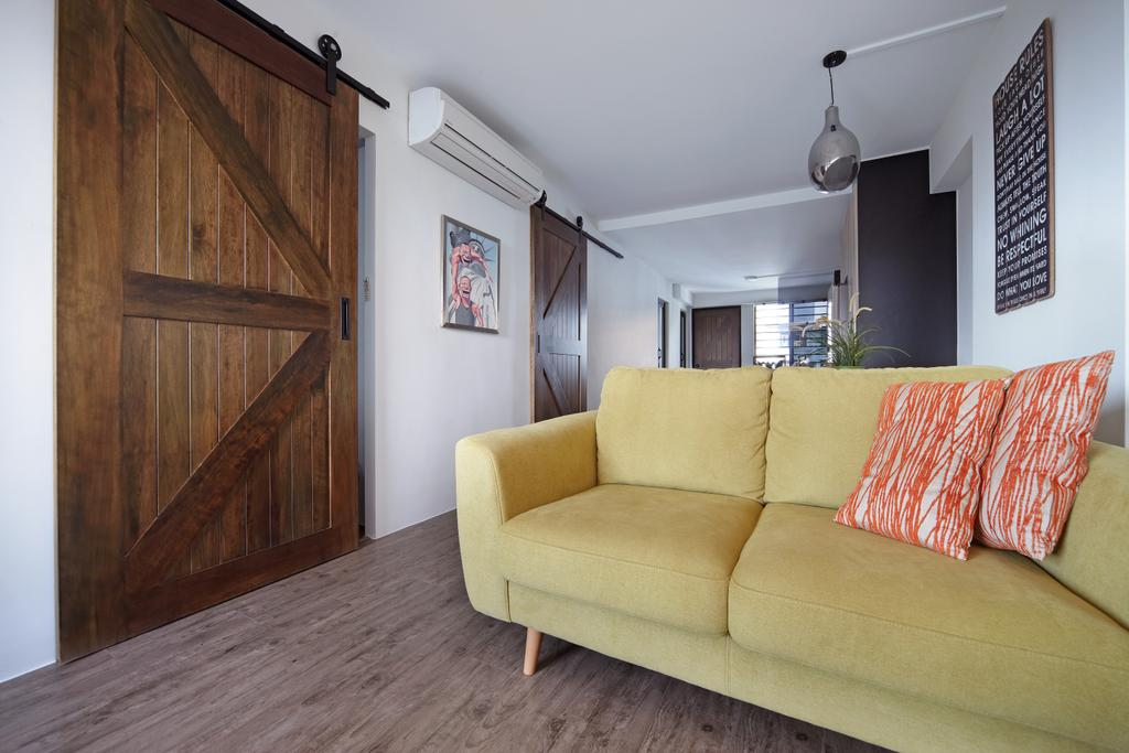 Modern, HDB, Living Room, Haig Road, Interior Designer, Free Space Intent, Eclectic, Couch, Furniture, Building, Housing, Indoors, Wood