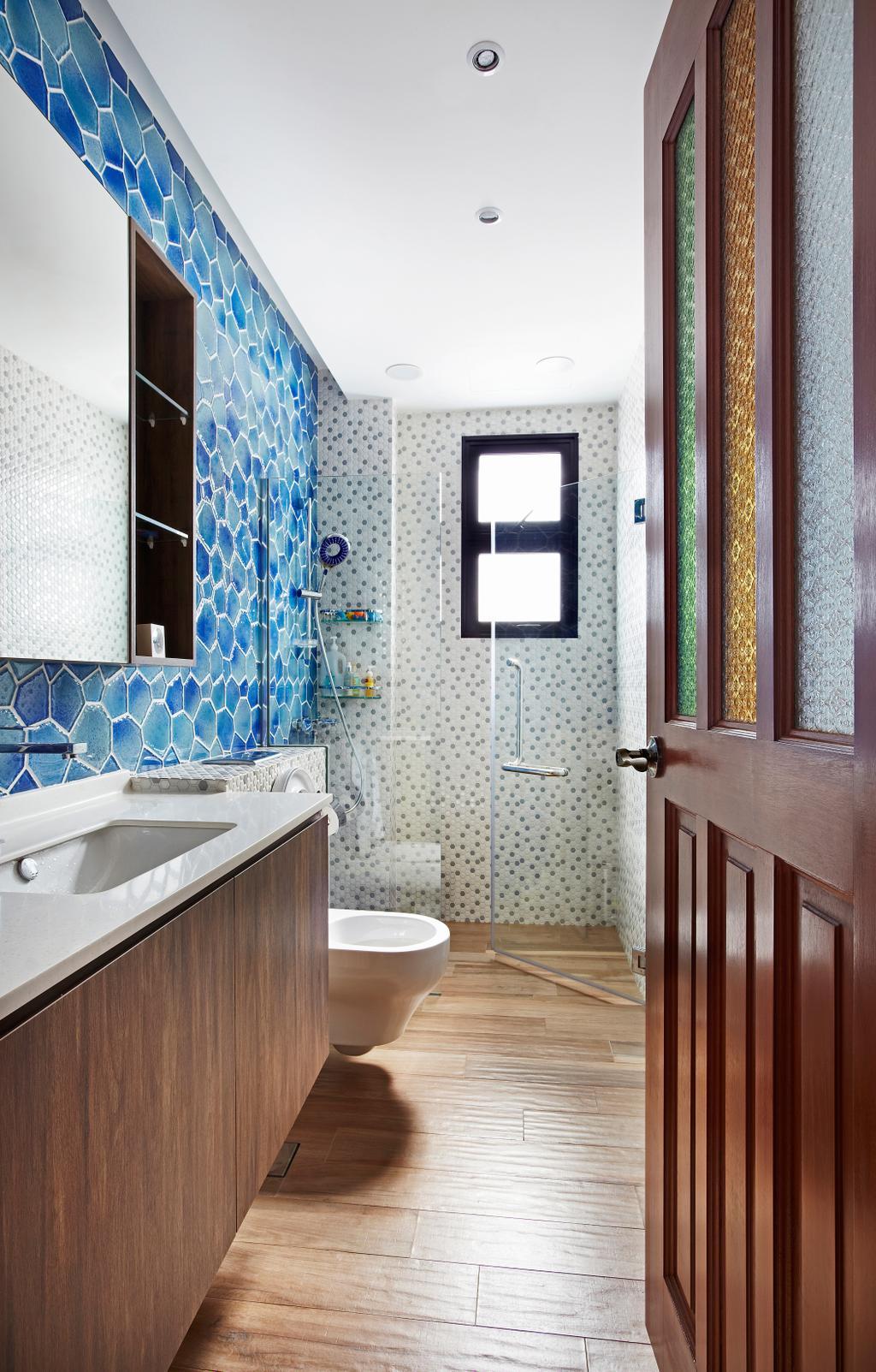 Eclectic, Landed, Bathroom, Aroozoo, Interior Designer, Free Space Intent, Indoors, Interior Design, Room