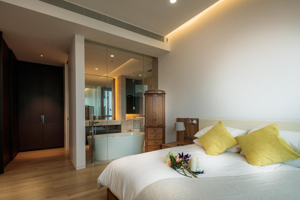 Minimalistic, Condo, Bedroom, Leedon Residences, Interior Designer, Ark Interior, Indoors, Room, Cushion, Home Decor, Interior Design