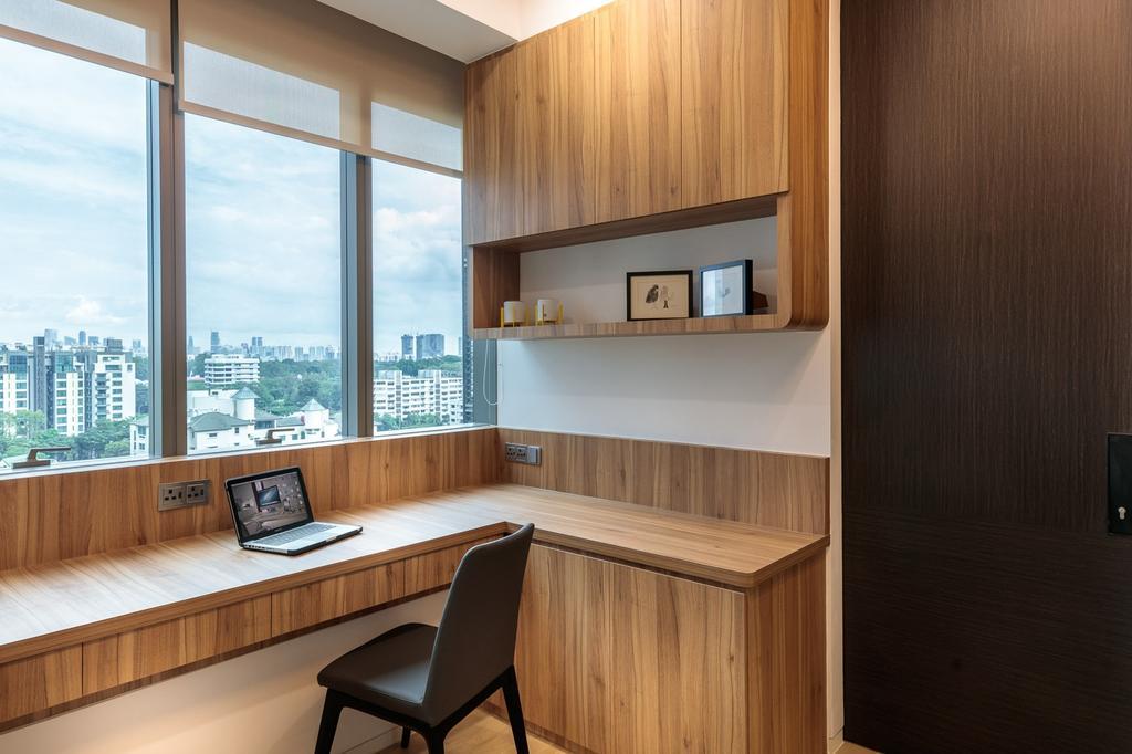 Minimalistic, Condo, Study, Leedon Residences, Interior Designer, Ark Interior, Indoors, Interior Design, Kitchen, Room, Chair, Furniture