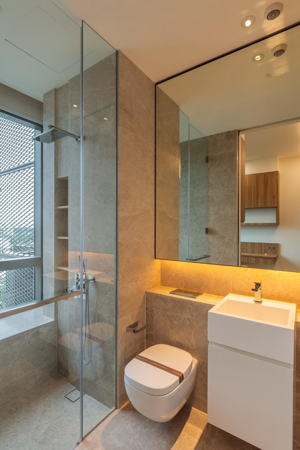 Minimalistic, Condo, Leedon Residences, Interior Designer, Ark Interior, Bathroom, Indoors, Interior Design, Room