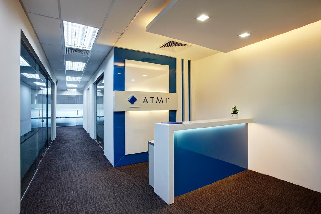 Jurong Office, Commercial, Interior Designer, D5 Studio Image, Traditional, Study, Reception, Counter, Office, Entrance, Signage, Logo, Corporate, Recessed Lighting, False Ceiling, Corridor