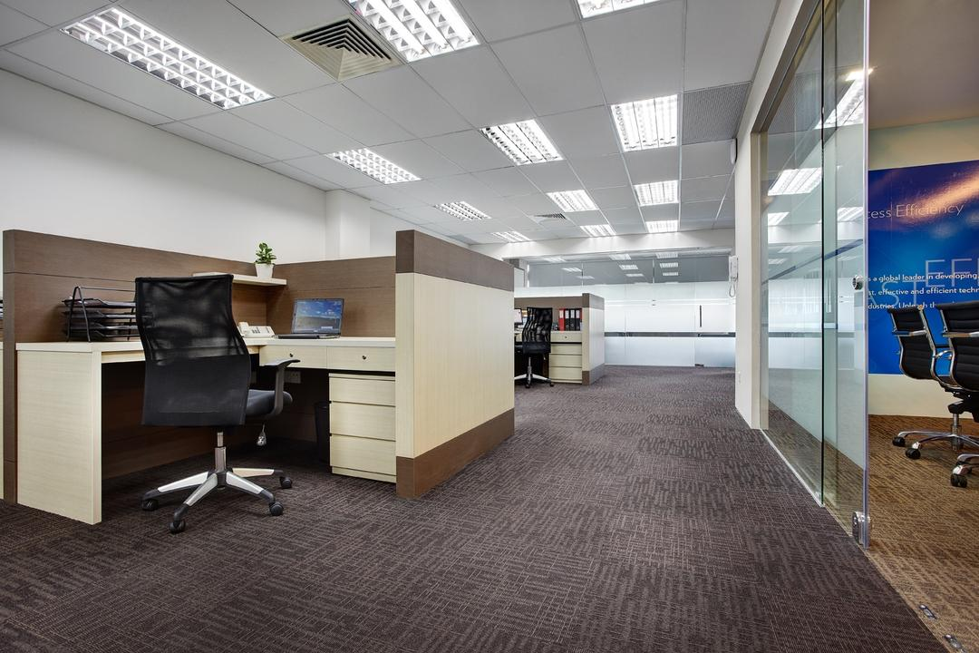 Jurong Office, D5 Studio Image, Traditional, Study, Commercial, Common Cubicle, Office, Company, Open Office, Ceiling Lights, Carpeted Flooring, Chair, Furniture, Flooring