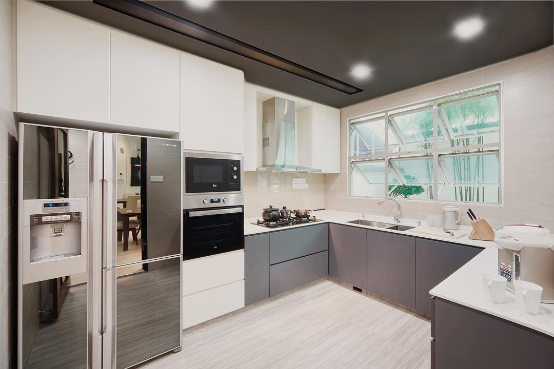 Grey Kitchen Cabinet Interior Design Singapore Interior Design Ideas