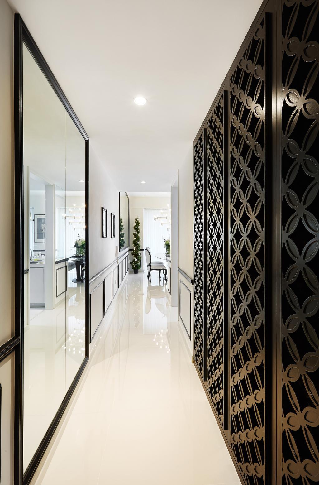 Vintage, Condo, Bedroom, Bishan, Interior Designer, Black N White Haus, Modern, Corridor