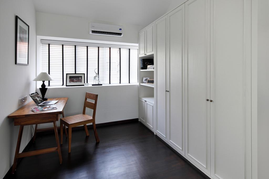 Modern, Landed, Bedroom, Braddell Road, Interior Designer, Black N White Haus, Vintage, Contemporary, Chair, Furniture, Dining Table, Table