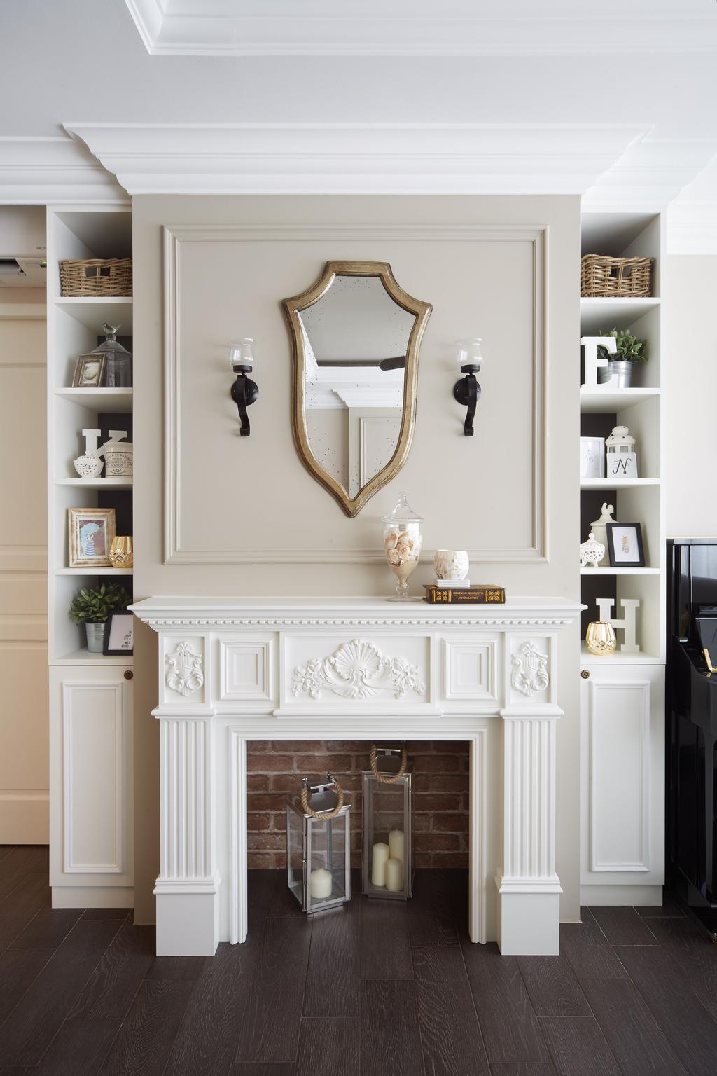 Vintage, HDB, Living Room, Punggol Field, Interior Designer, Black N White Haus, Molding, Indoors, Interior Design