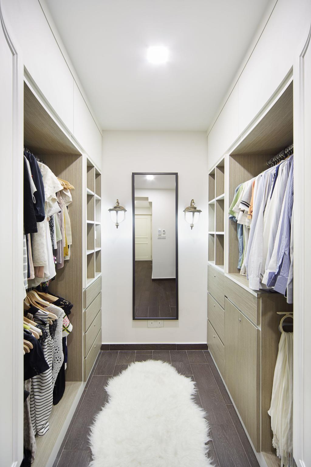 Vintage, HDB, Bedroom, Punggol Field, Interior Designer, Black N White Haus, Closet