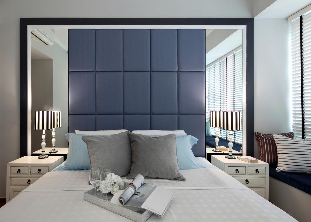 Modern, Condo, Bedroom, Upper Bukit Timah Road, Interior Designer, Black N White Haus, Vintage, Couch, Furniture, Indoors, Interior Design