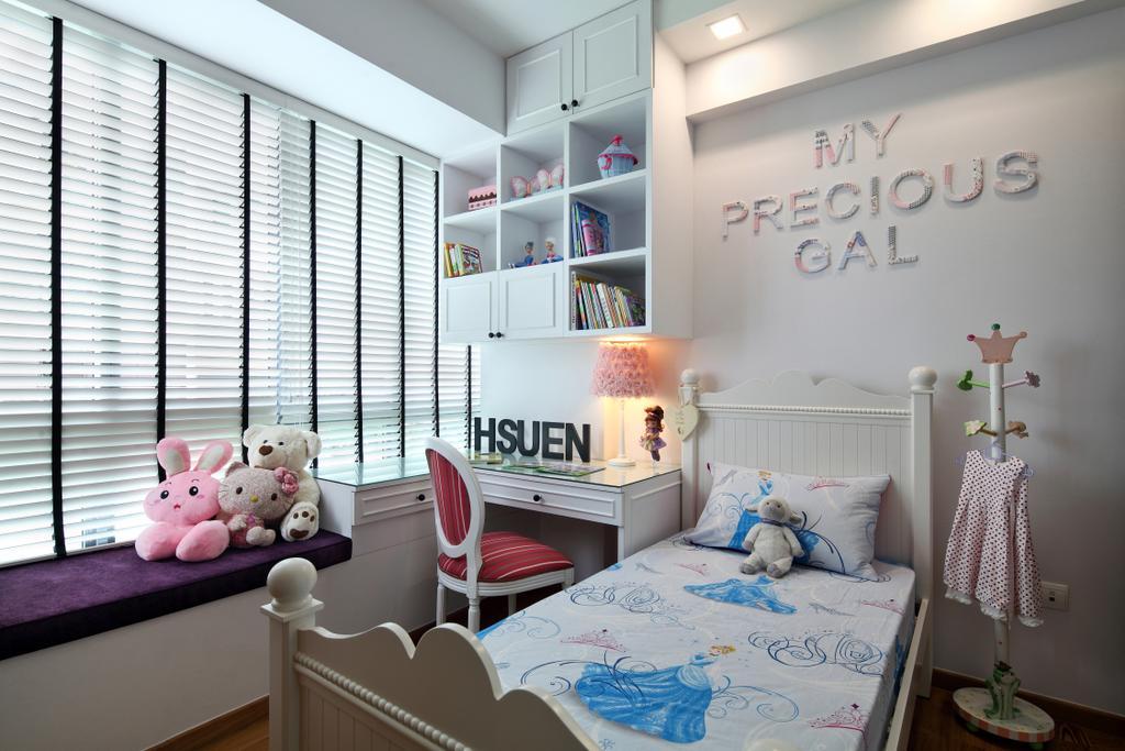 Modern, Condo, Bedroom, Upper Bukit Timah Road, Interior Designer, Black N White Haus, Vintage, Toy, Teddy Bear, Shelf