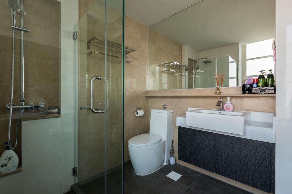 Modern, Condo, Ris Gradeur, Interior Designer, 9 Creation, Bathroom, Indoors, Interior Design, Room