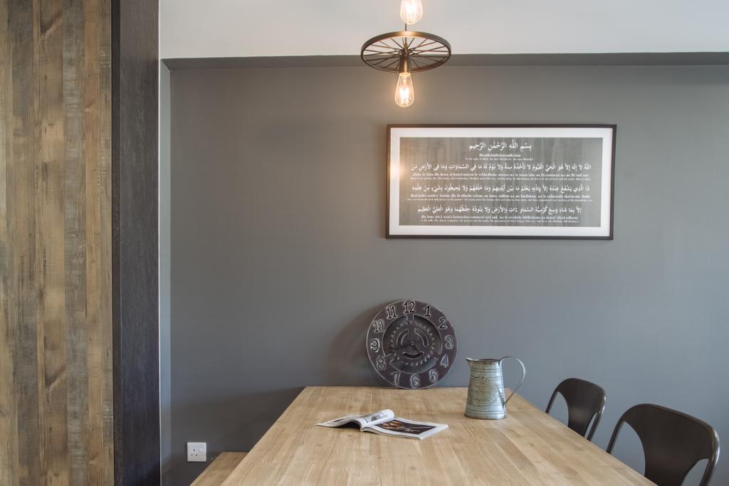 Scandinavian, HDB, Dining Room, Punggol Breeze, Interior Designer, Starry Homestead, Plaque, Indoors, Interior Design, Room, Cup