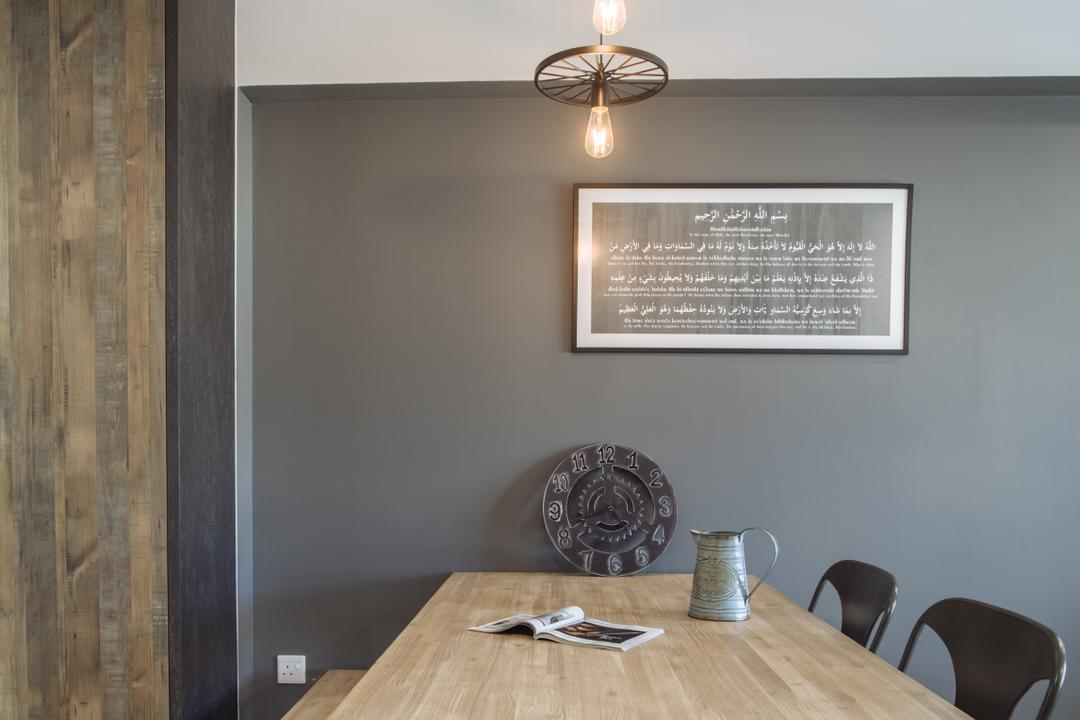 Punggol Breeze, Starry Homestead, Scandinavian, Dining Room, HDB, Plaque, Indoors, Interior Design, Room, Cup