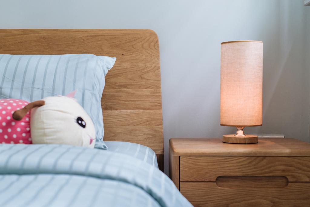 Modern, HDB, Bedroom, Rivervale Delta, Interior Designer, Starry Homestead, Lamp, Bed, Furniture, Table Lamp