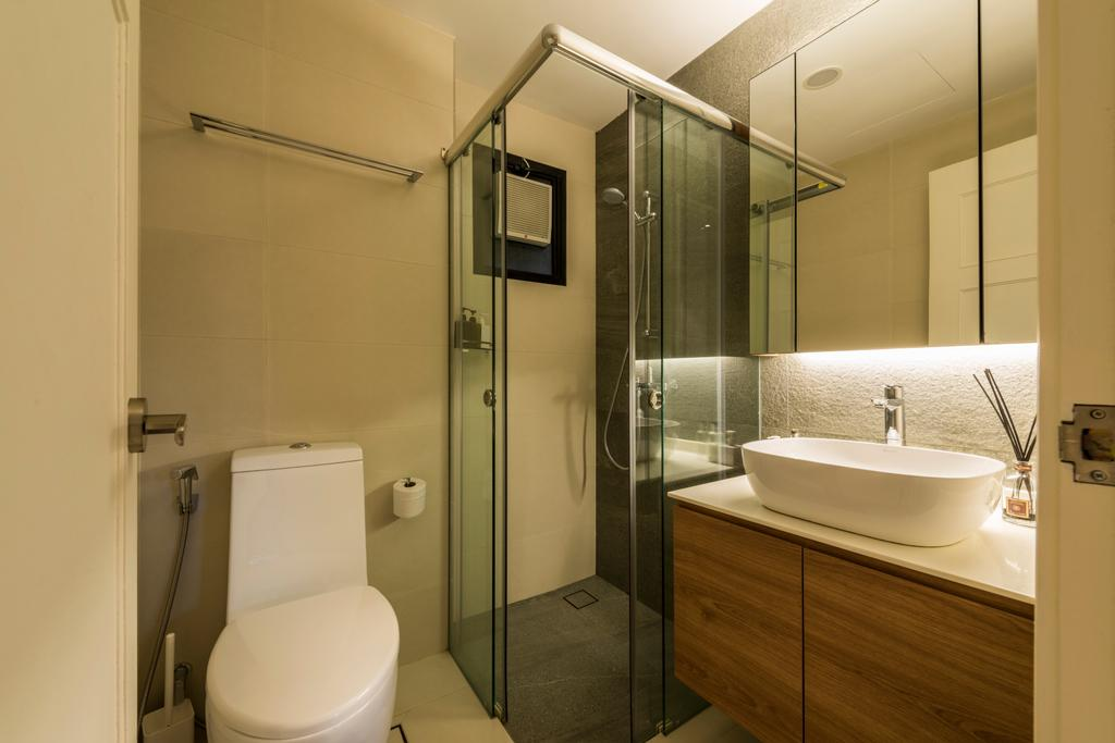Modern, Condo, Bathroom, Heritage View (6 Dover Rise), Interior Designer, Space Vision Design, Toilet, Indoors, Interior Design, Room, Appliance, Electrical Device, Fridge, Refrigerator