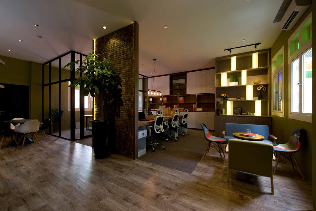 DB Studio Showroom, Commercial, Interior Designer, DB Studio, Industrial, Living Room, Flooring