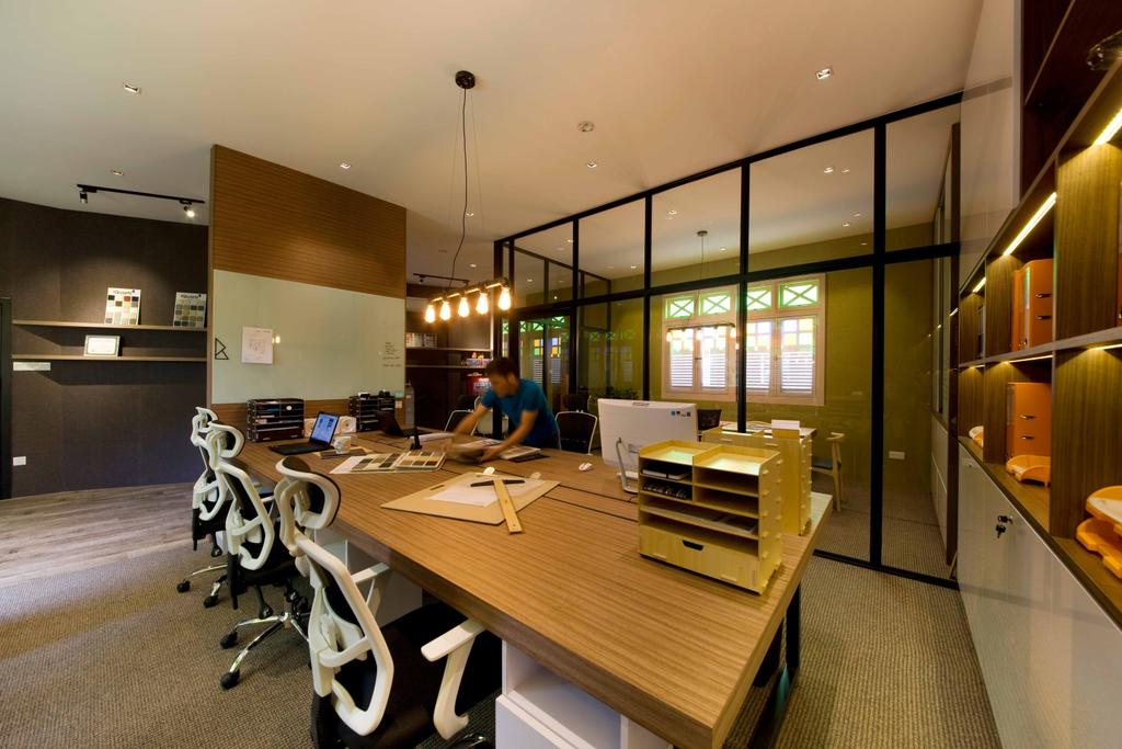 DB Studio Showroom, Commercial, Interior Designer, DB Studio, Industrial, Wood