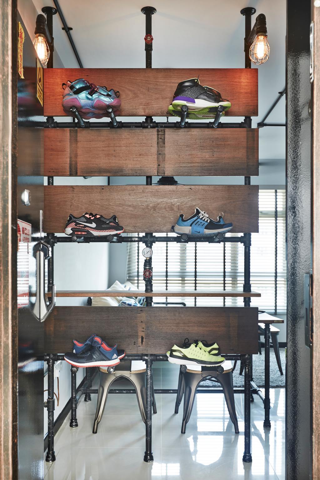 Industrial, HDB, Living Room, Keat Hong, Interior Designer, Dap Atelier