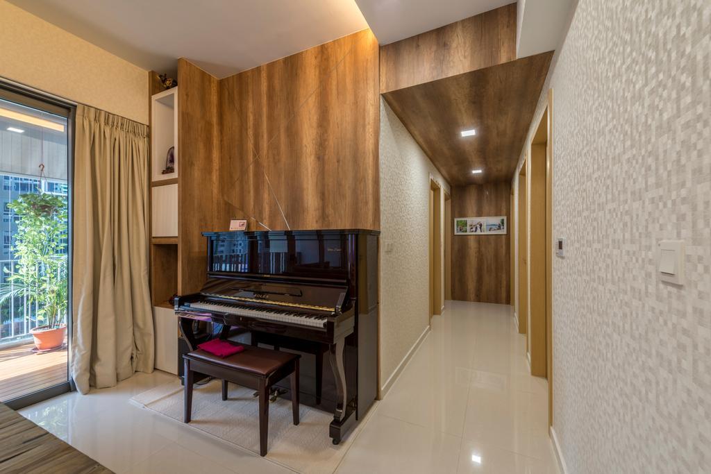 Modern, Condo, Living Room, H2O Residence, Interior Designer, Ace's Design