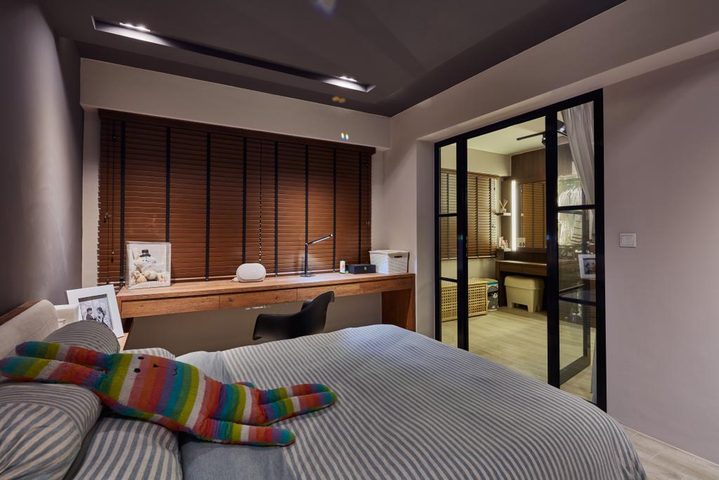 Scandinavian, HDB, Bedroom, Rivervale Crescent, Interior Designer, Edge Interior, Industrial, Indoors, Interior Design, Room