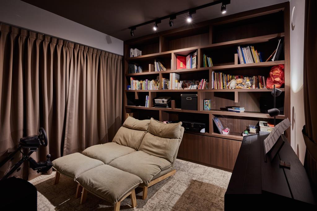 Scandinavian, HDB, Living Room, Rivervale Crescent, Interior Designer, Edge Interior, Industrial, Indoors, Room, Couch, Furniture