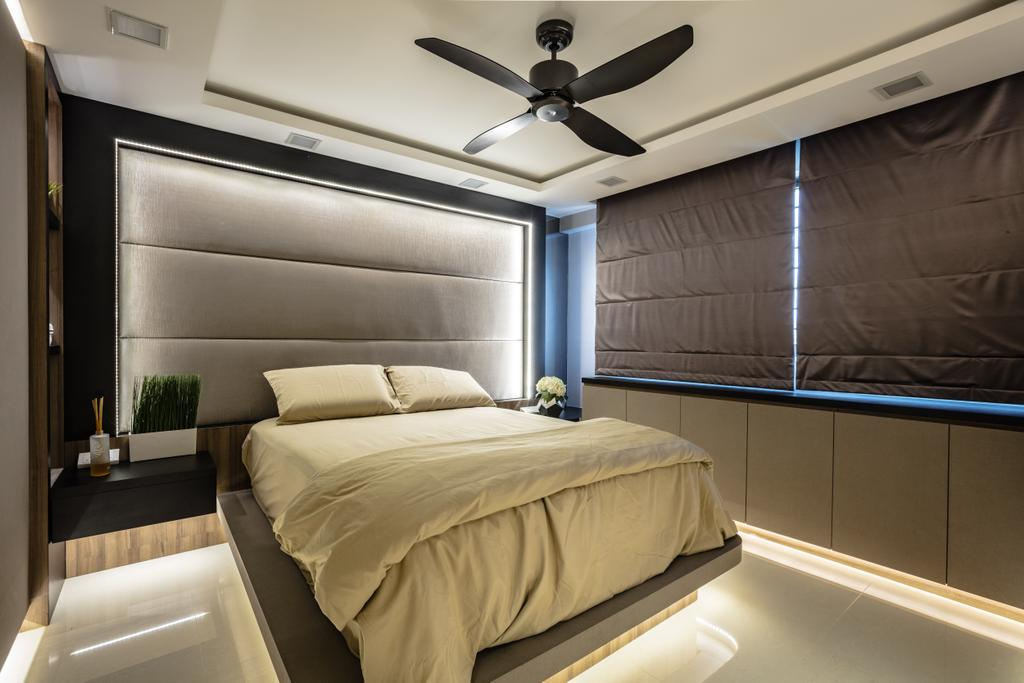 Contemporary, HDB, Bedroom, Hougang Street 61, Interior Designer, Sky Creation Asia, Bed, Furniture