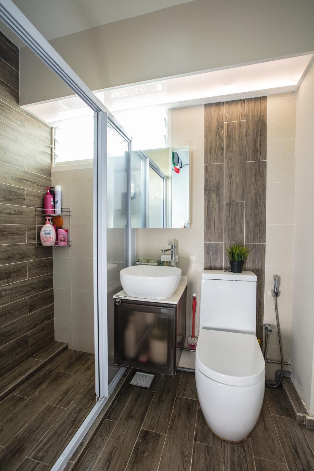 Contemporary, HDB, Bathroom, Hougang Street 61, Interior Designer, Sky Creation Asia, Indoors, Interior Design, Room, Sink