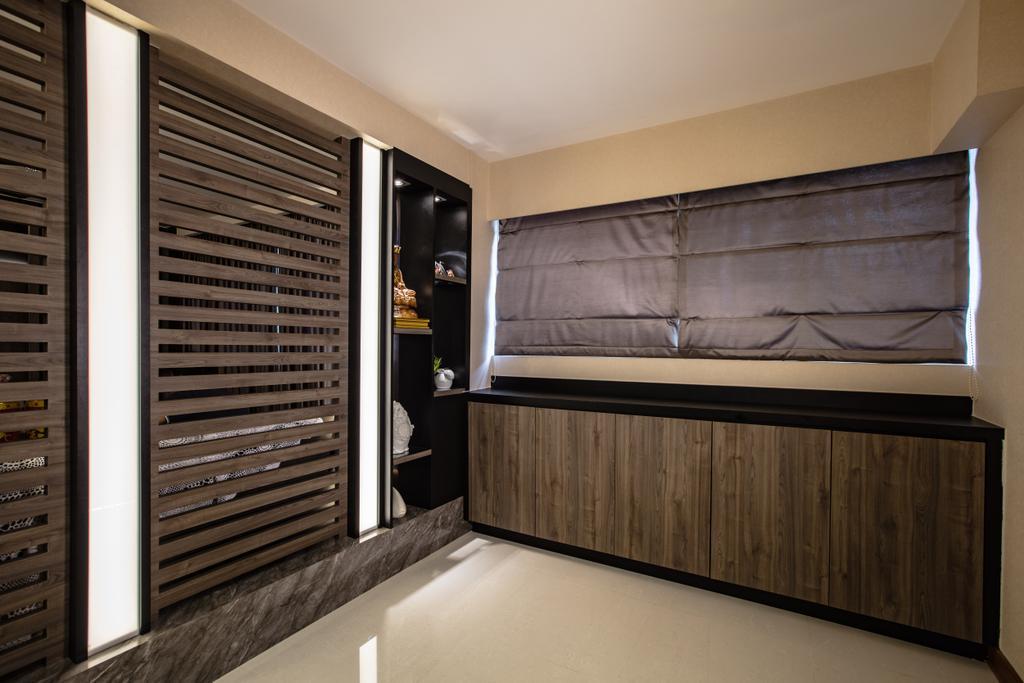 Contemporary, HDB, Bedroom, Hougang Street 61, Interior Designer, Sky Creation Asia, Indoors, Interior Design