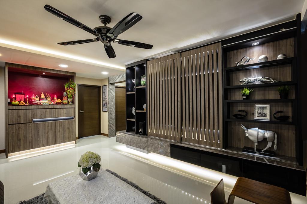 Contemporary, HDB, Living Room, Hougang Street 61, Interior Designer, Sky Creation Asia, Indoors, Interior Design