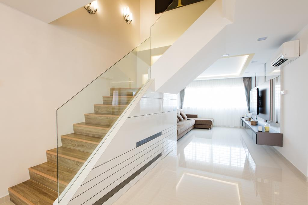 Contemporary, HDB, Living Room, Tampines Street 83, Interior Designer, Sky Creation Asia, Indoors, Interior Design