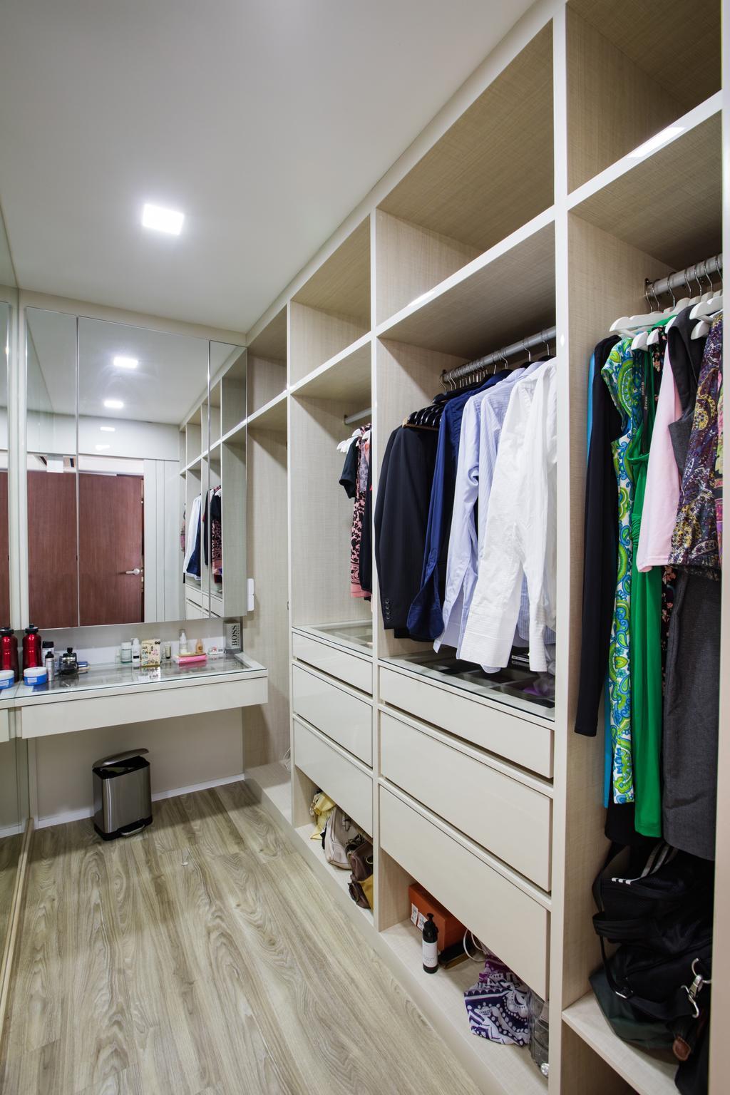 Contemporary, HDB, Bedroom, Tampines Street 83, Interior Designer, Sky Creation Asia, Closet, Sink