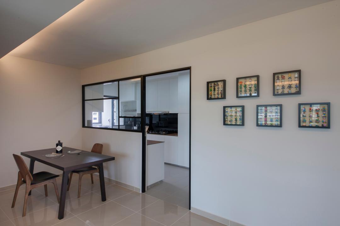 Choa Chu Kang Avenue 1 (Block 808), Space Concepts Design, Modern, Dining Room, HDB, Modern Contemporary Dining Room, Wooden Dining Table, Wooden Dining Chair, Marble Floor, Hidden Interior Lighting, Dining Table, Furniture, Table, Plywood, Wood