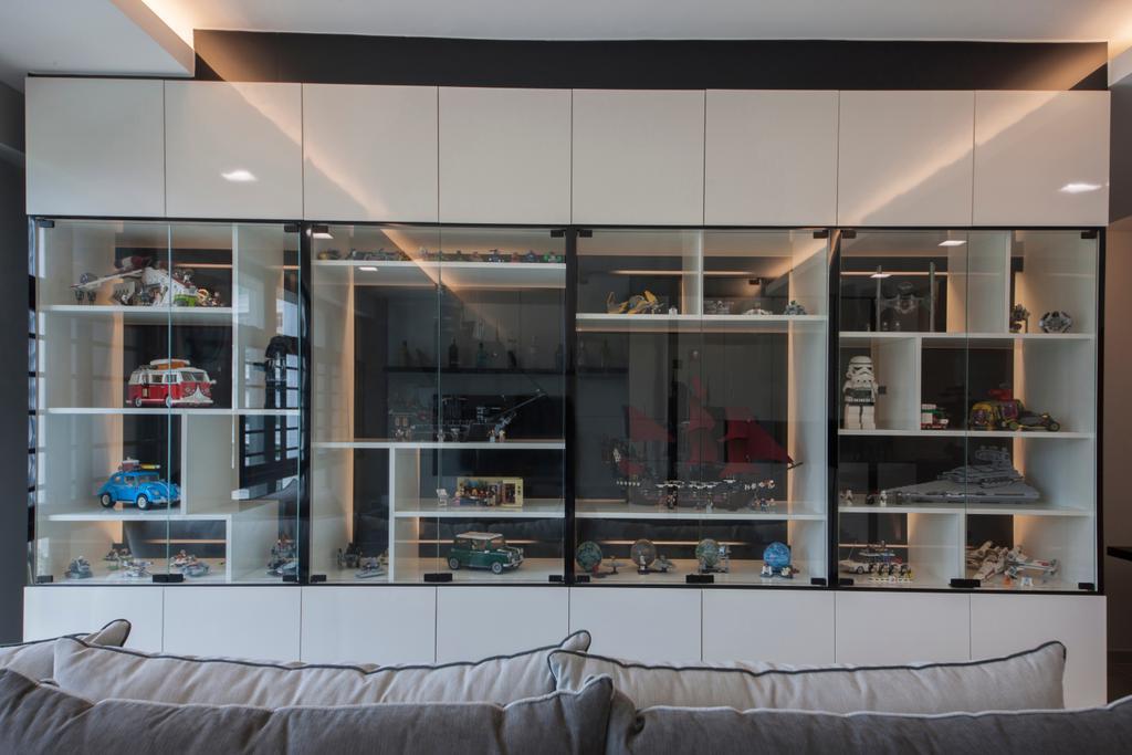 Modern, HDB, Study, Choa Chu Kang Avenue 1 (Block 808), Interior Designer, Space Concepts Design