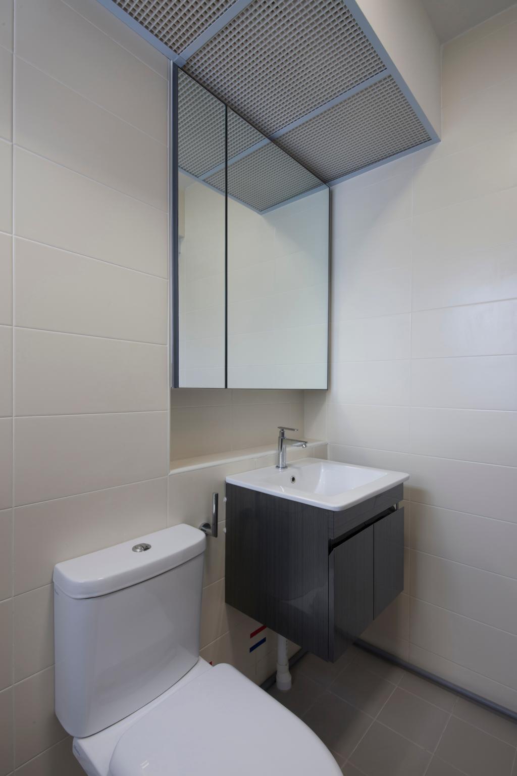 Modern, HDB, Bathroom, Choa Chu Kang Avenue 1 (Block 808), Interior Designer, Space Concepts Design, Modern Contemporary Bathroom, Ceramic Tiles, Sink Countertop, Sink, Indoors, Interior Design, Room