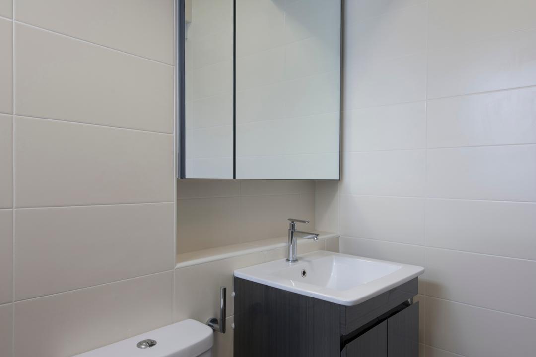 Choa Chu Kang Avenue 1 (Block 808), Space Concepts Design, Modern, Bathroom, HDB, Modern Contemporary Bathroom, Ceramic Tiles, Sink Countertop, Sink, Indoors, Interior Design, Room