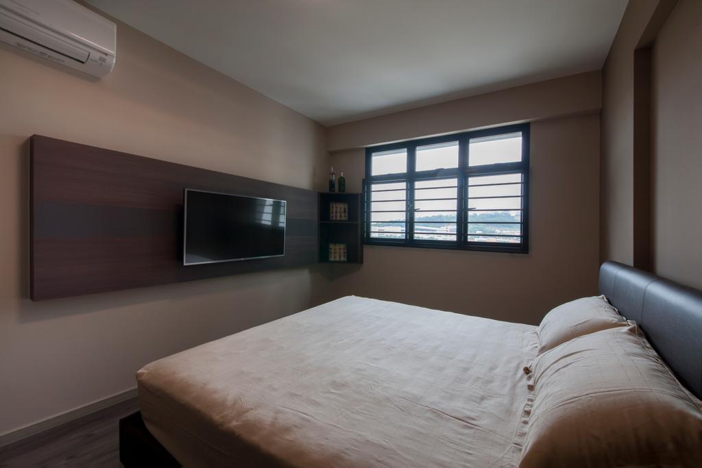 Modern, HDB, Bedroom, Choa Chu Kang Avenue 1 (Block 808), Interior Designer, Space Concepts Design, Bed, Furniture, Indoors, Interior Design, Room