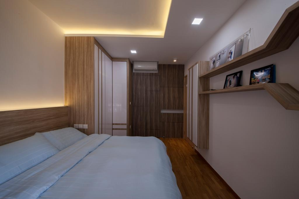 HDB, Bedroom, Forestville, Interior Designer, Project Guru, Building, Housing, Indoors, Loft, Room, Interior Design