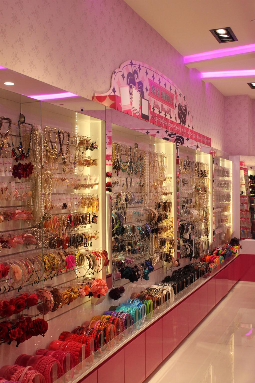 Aries (Westgate), Commercial, Interior Designer, Le Interi, Traditional, Pink Lighting, Pink Cabinets, Showcase Shelf, Display Shelf, Recessed Lighting, Accessories Display, Cake, Dessert, Food, Jar, Pottery, Vase