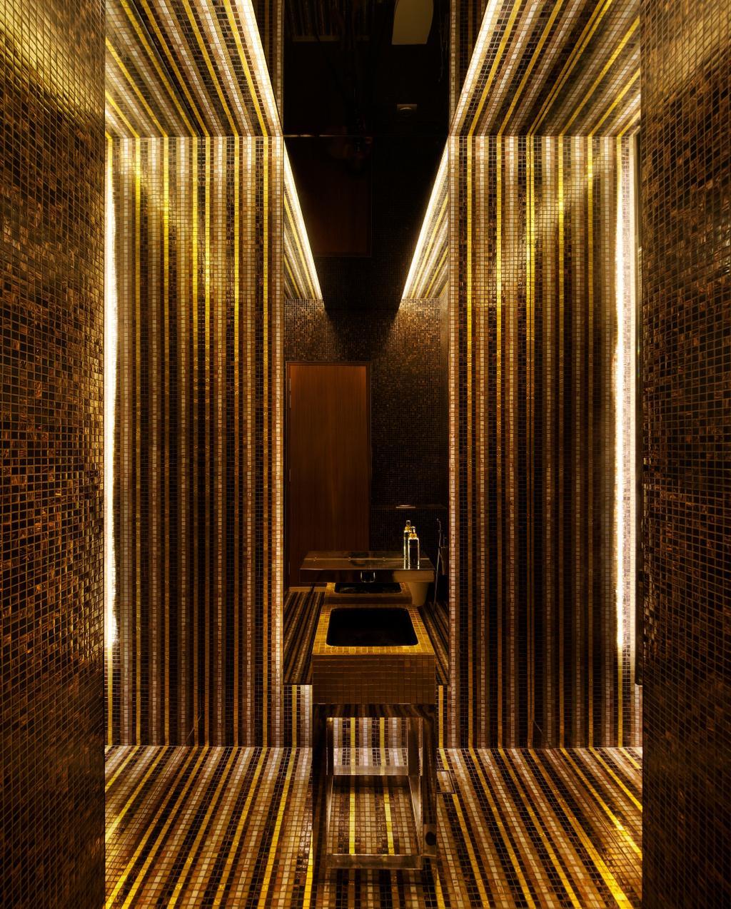 Modern, Landed, Bathroom, East Coast (Wind Vault House), Architect, Wallflower Architecture + Design, Concealed Lights, Sink, Tiled Walls, Mosaic Tiling, Shining Effect, Indoors, Interior Design, Room