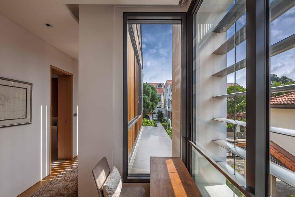 Modern, Landed, Bukit Timah (Far Sight House), Architect, Wallflower Architecture + Design, Corridors, Table And Chairs, Balcony