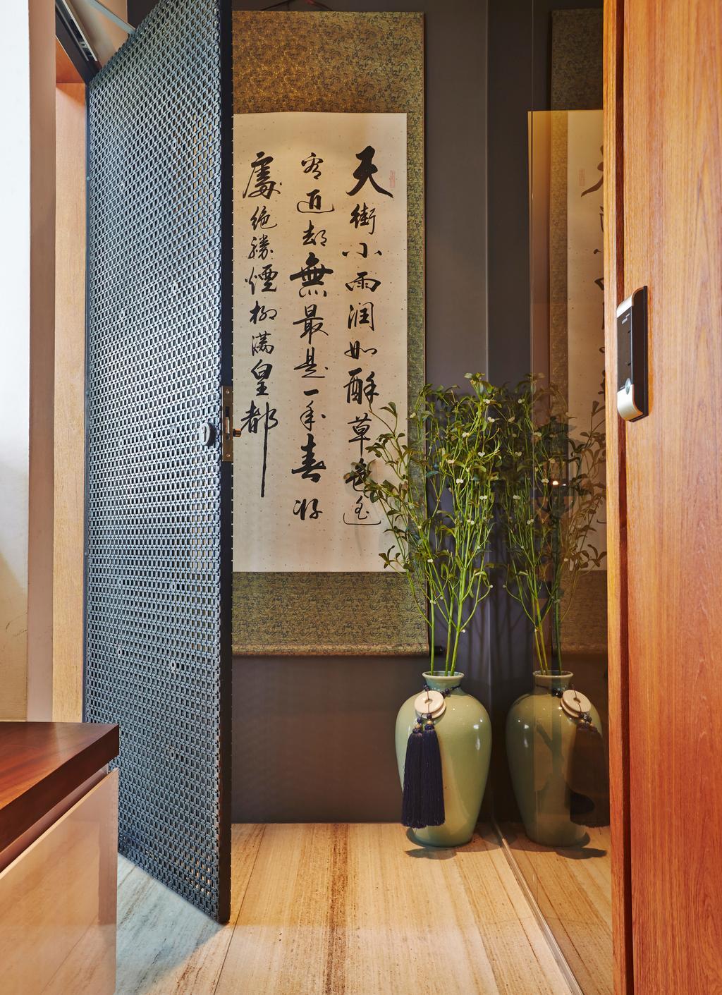 Vintage, HDB, Living Room, Kim Keat Road, Interior Designer, Bowerman, Modern, Transitional, Flora, Jar, Plant, Potted Plant, Pottery, Vase