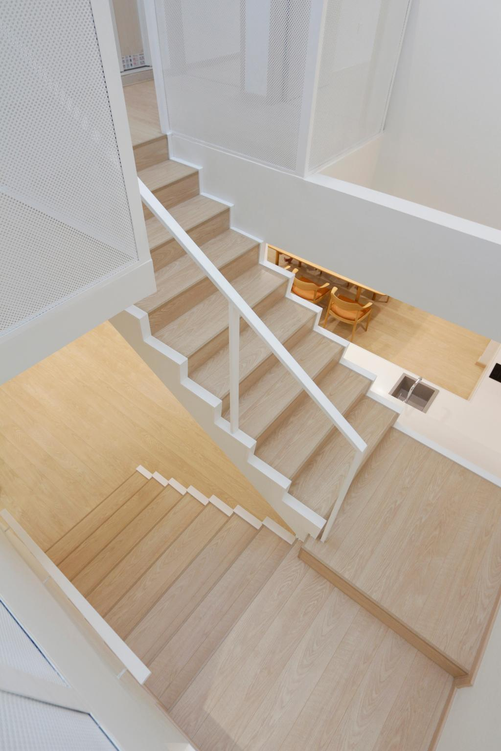 Minimalistic, Landed, Lentor Green, Architect, EHKA Studio, Wood, Banister, Handrail, Staircase