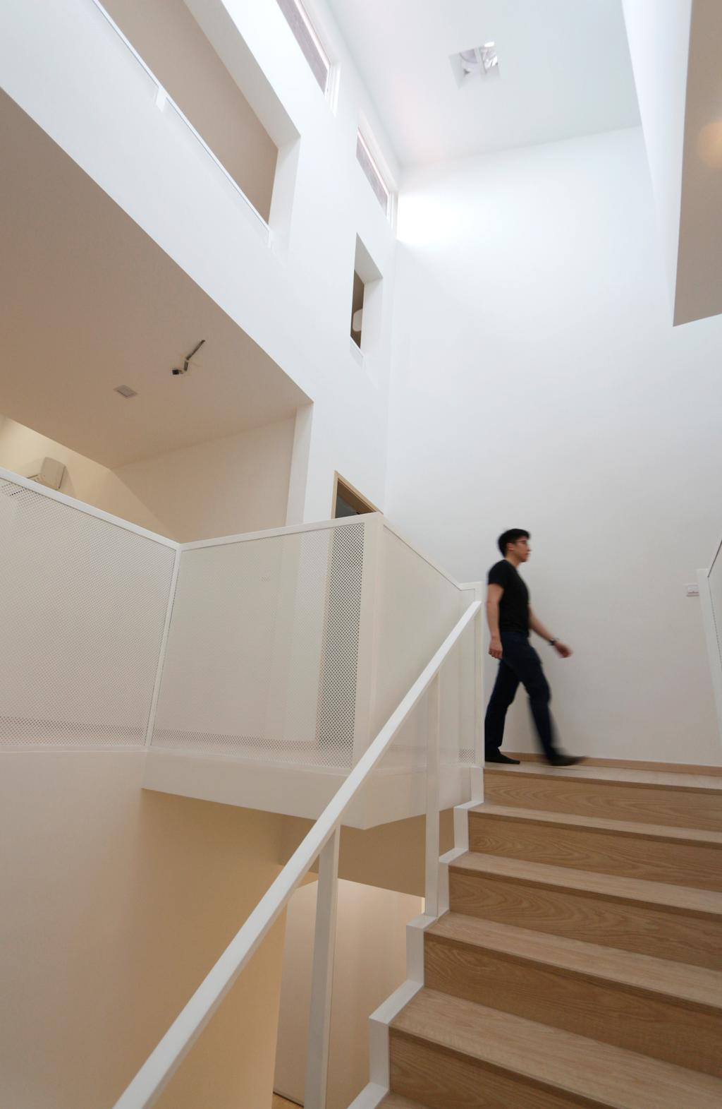 Minimalistic, Landed, Lentor Green, Architect, EHKA Studio, Human, People, Person, Banister, Handrail