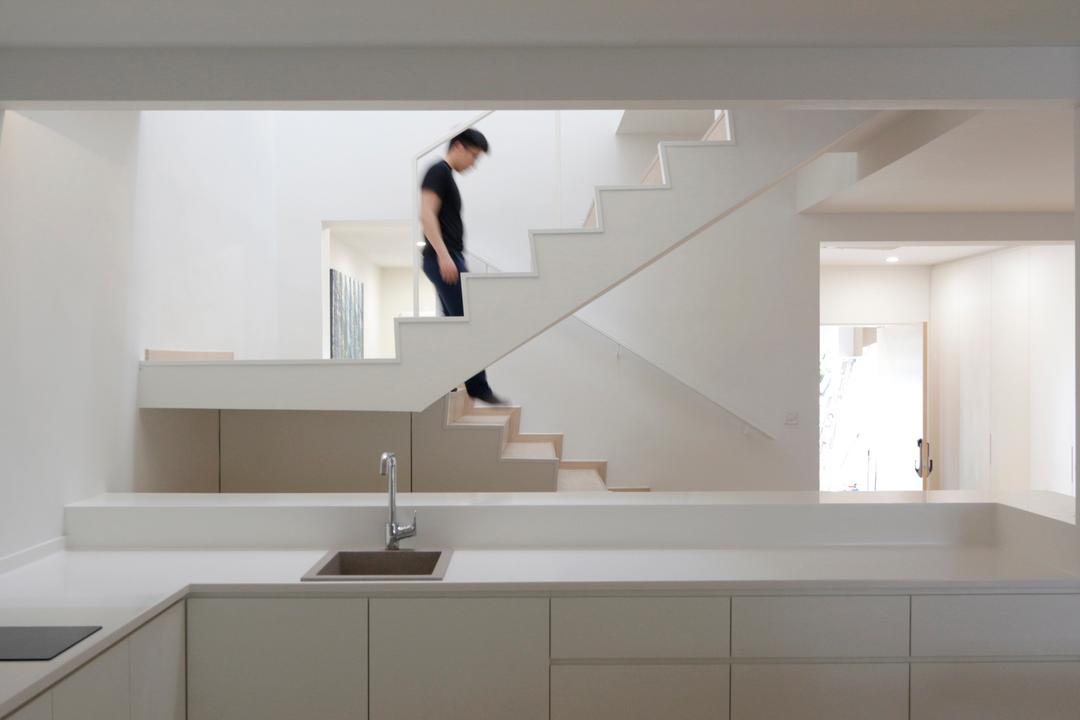 Lentor Green, EHKA Studio, Minimalistic, Kitchen, Landed, White Kitchen Cabinet, White Kitchen Cupboard, White Laminated Top