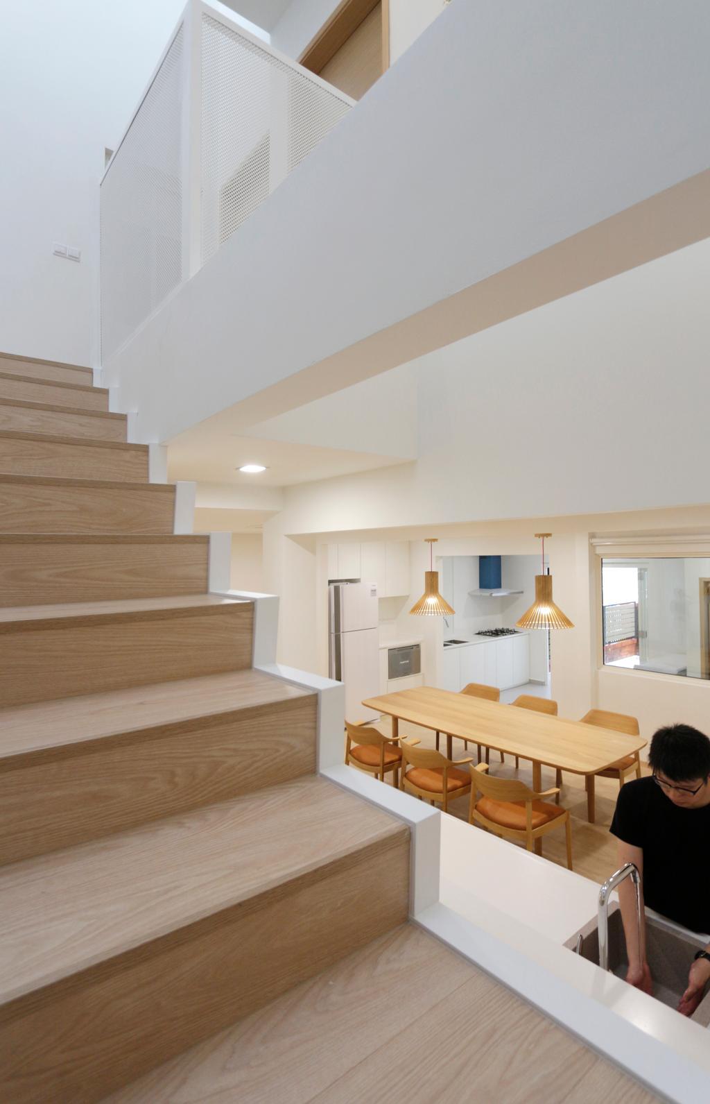 Minimalist, Landed, Dining Room, Lentor Green, Architect, EHKA Studio, Indoors, Interior Design