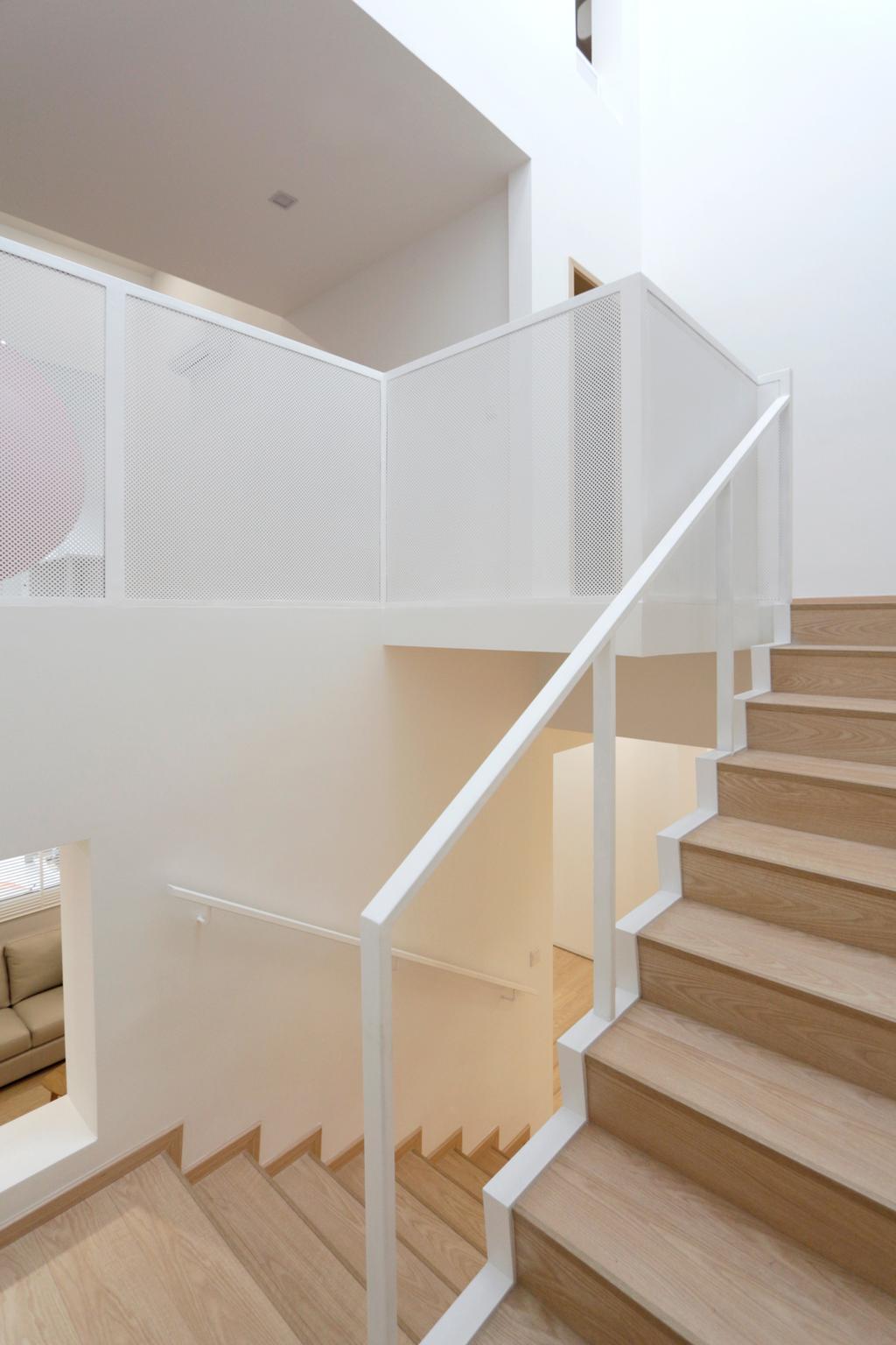 Minimalistic, Landed, Lentor Green, Architect, EHKA Studio, Banister, Handrail, Staircase