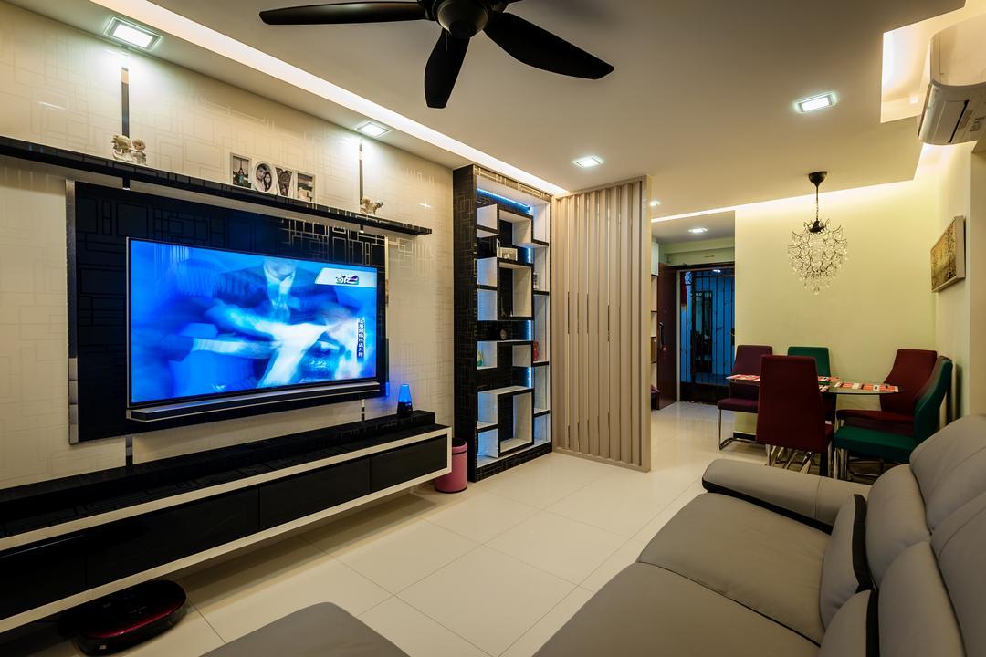 Black Tv Console   Interior Design Singapore   Interior Design Ideas