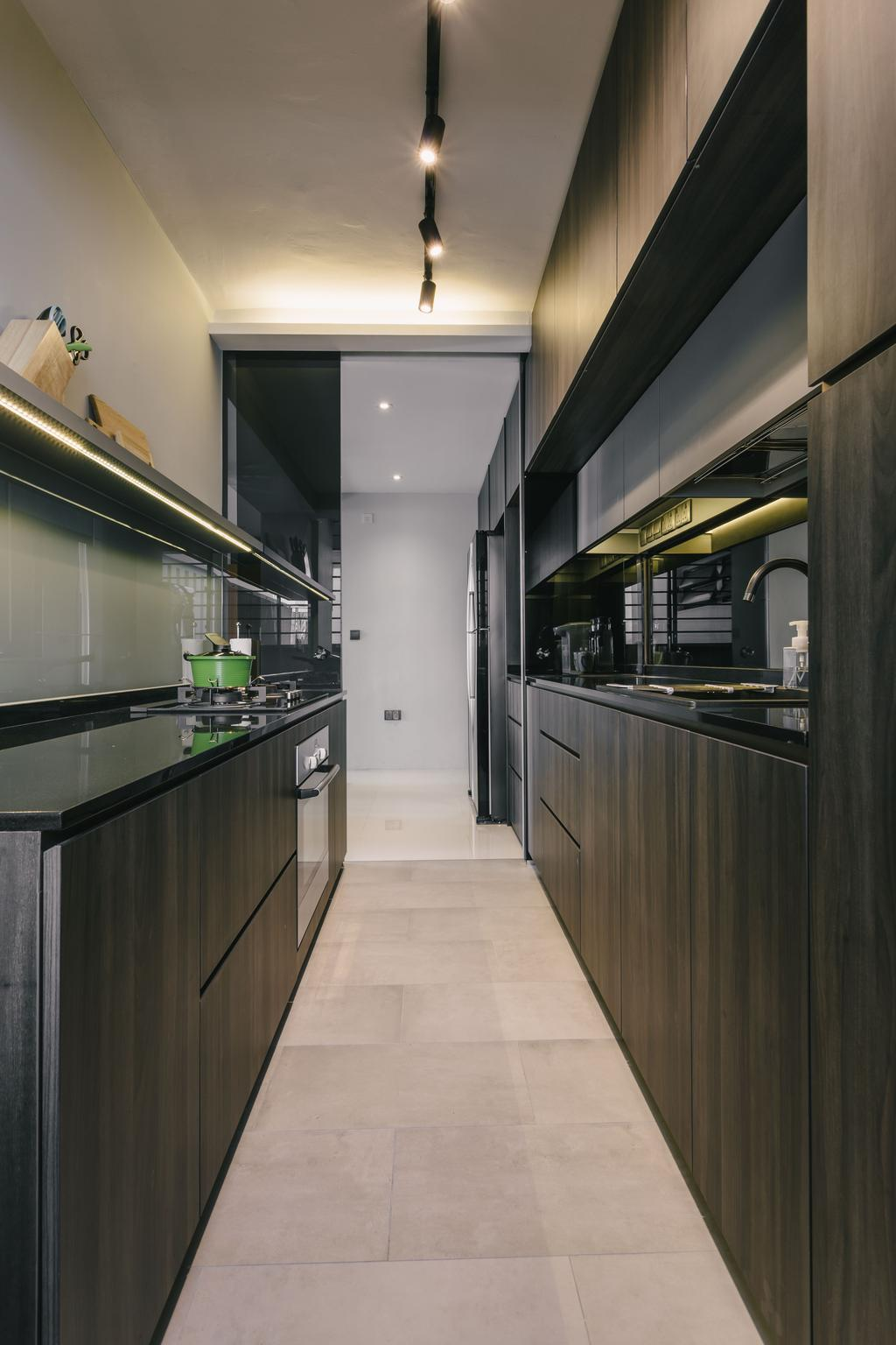 Modern, HDB, Kitchen, Punggol Waterway Terraces, Interior Designer, Third Avenue Studio, Contemporary, Subway, Terminal, Train, Train Station, Transportation, Vehicle