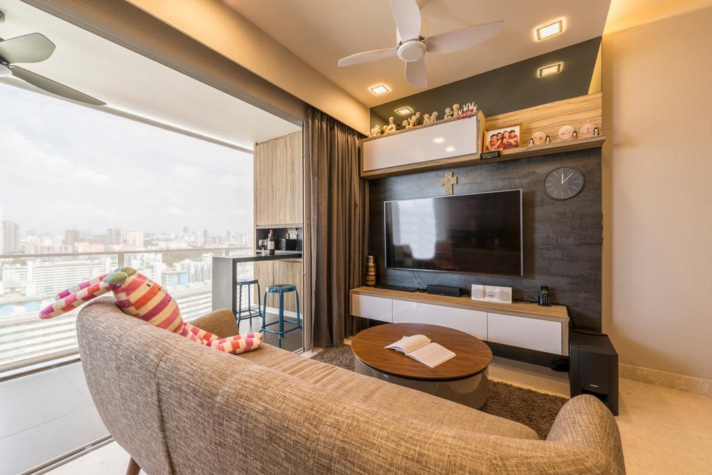 Contemporary, Condo, Living Room, Eight Riversuites, Interior Designer, Meter Square, Modern, Indoors, Interior Design