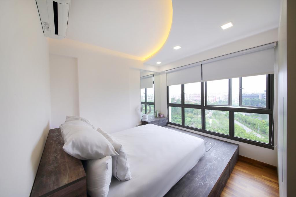 Modern, HDB, Bedroom, Adora Green, Interior Designer, Dap Atelier, Scandinavian, Window, Indoors, Interior Design, Room